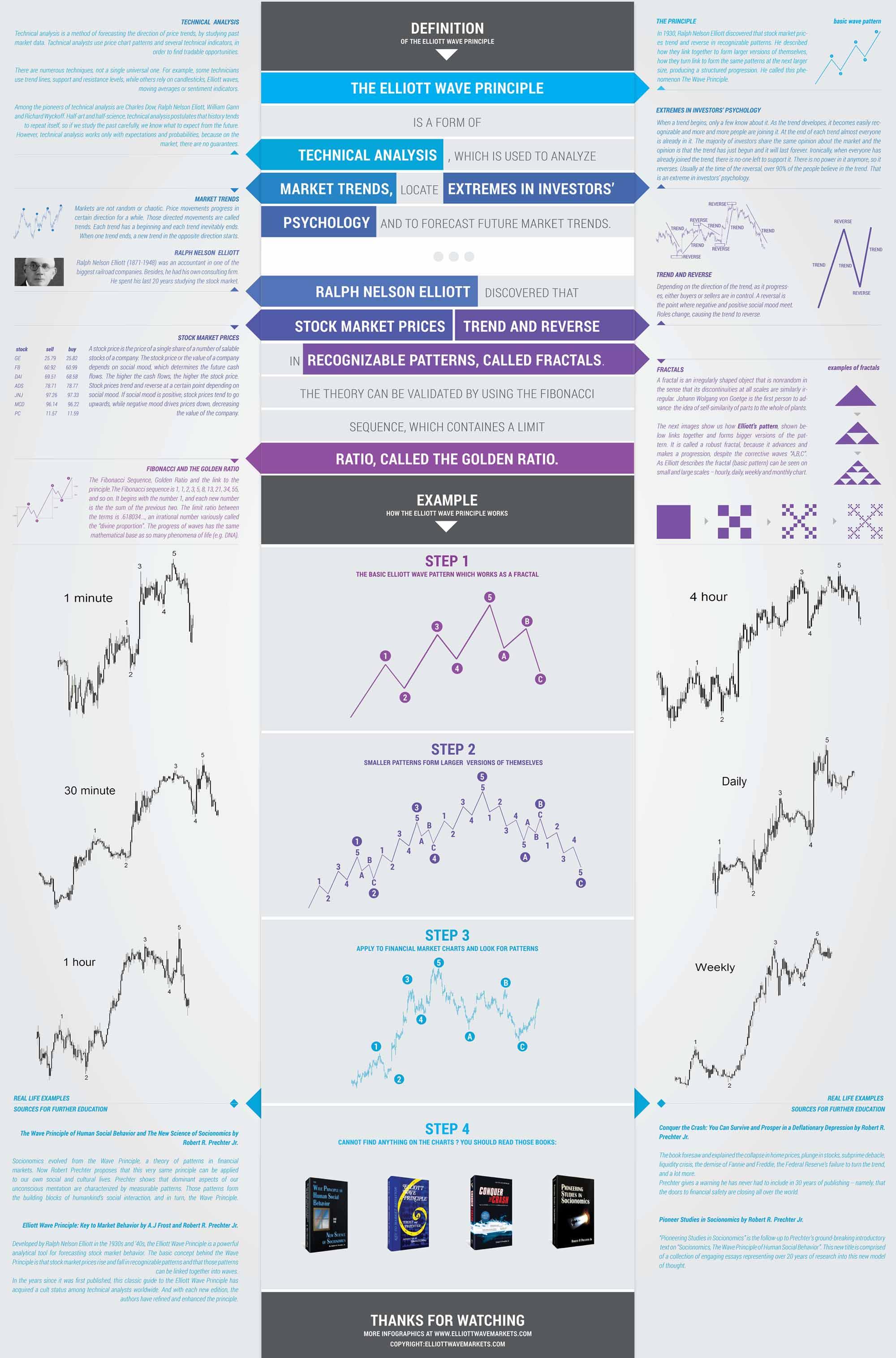 Elliott Wave Principle Infographics