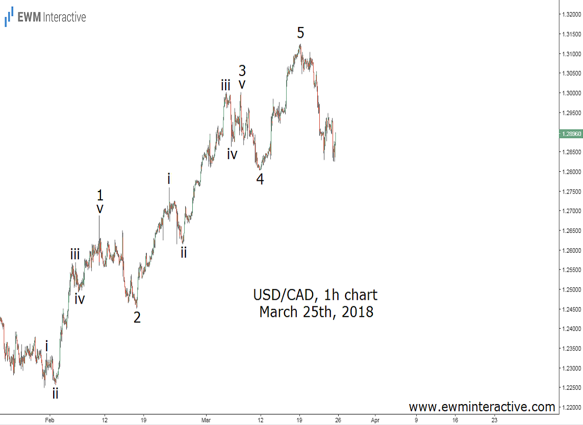 usdcad elliott wave success