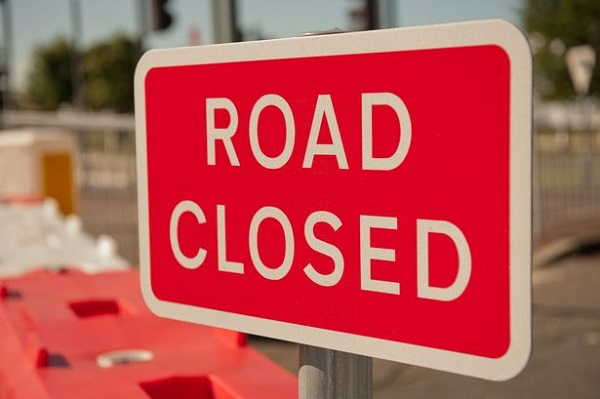 Forex market road closed sign